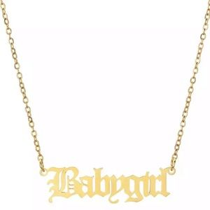 Jewelry - Baby Girl Necklace Old English Letter Necklaces925
